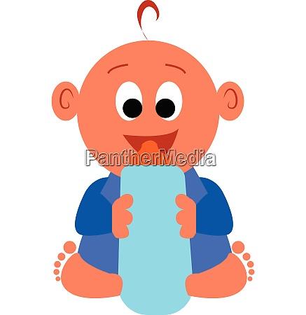 a happy baby boy vector color