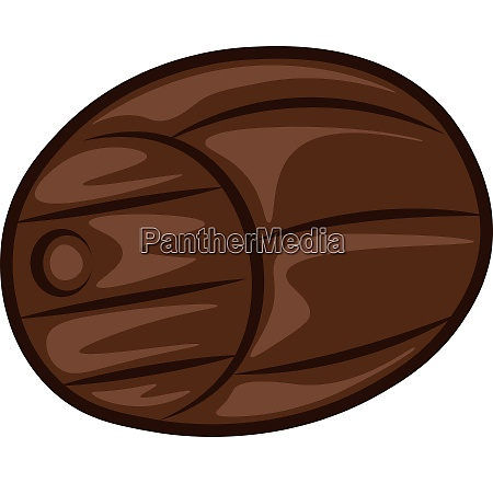 a wooden barrel vector color illustration