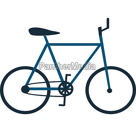 girl riding in a bicycle vector