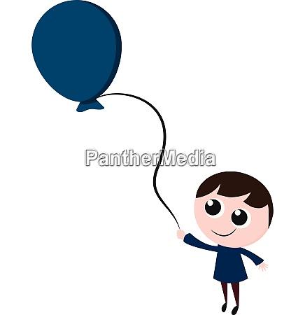 a happy boy with a balloon