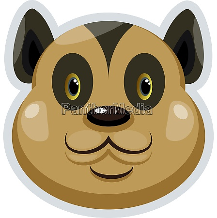 happy brown bobcat illustration vector on