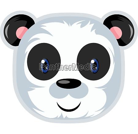 cute panda with blue eyes illustration