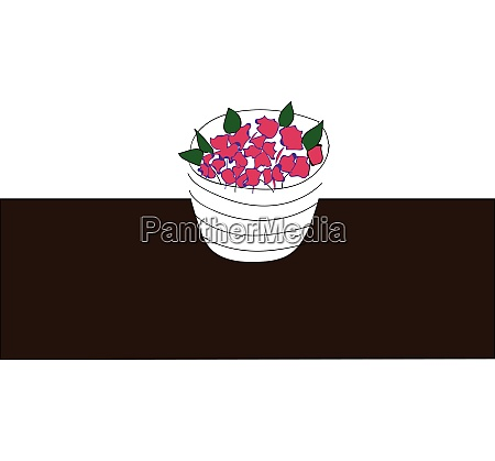 simple picture of a flower pot
