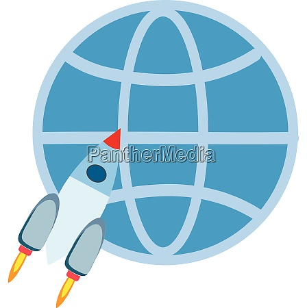 rocket for outre space vector or