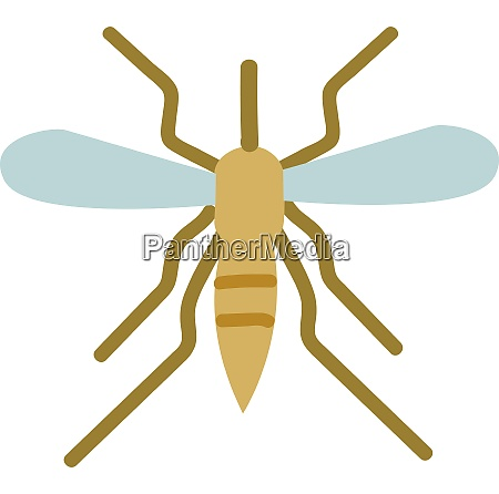 simple vector illustration of mosquito on