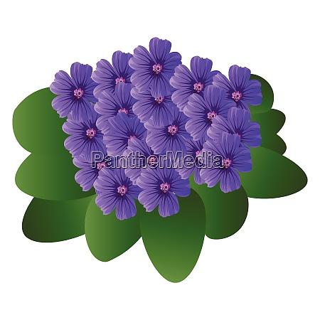 vector illustration of purple violet flowers