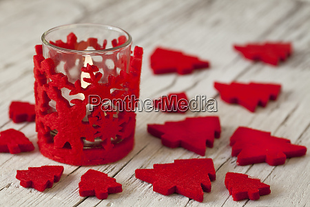 red white scandinavian style christmas decoration