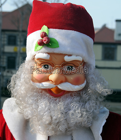 happy santa clause in china