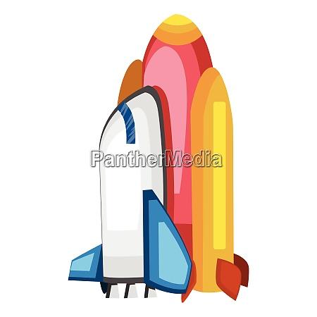 vector illustartion of a spaceship on