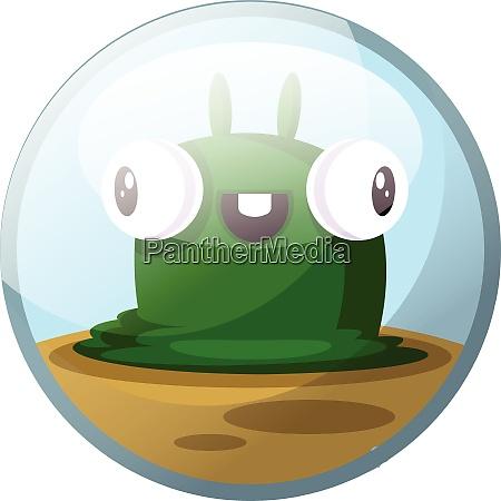 cartoon character of a green slug