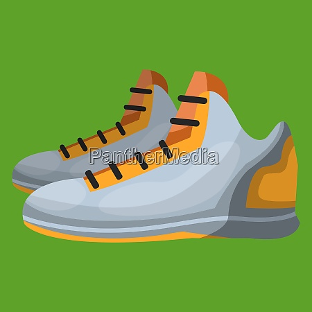 sports, shoe, vector, color, illustration. - 27487070