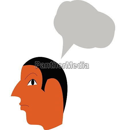a man with thought vector or