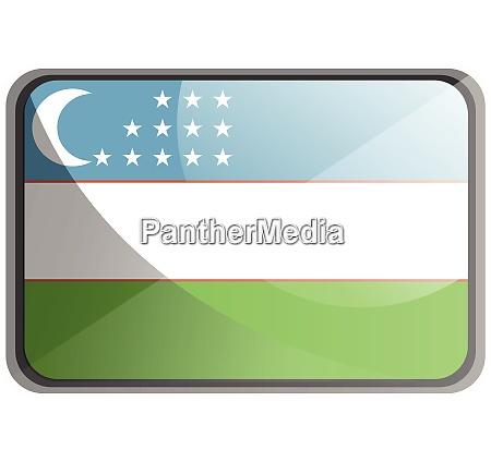 vector illustration of uzbekistan flag on