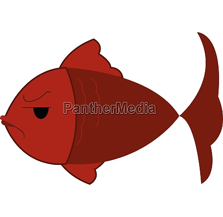 an angry fish with gills that