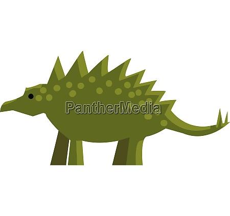 a green spiky dinosaur vector or