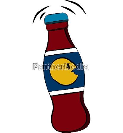 cola drink bottle with cap vector