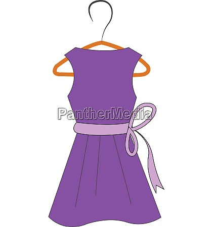 purple dress on hanger