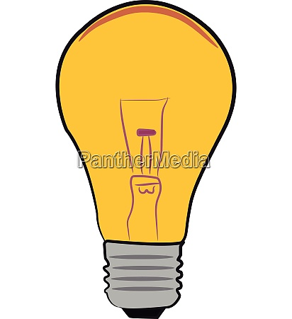 a light bulb with wire filament