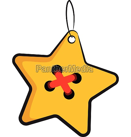 golden star christmas decoration vector or