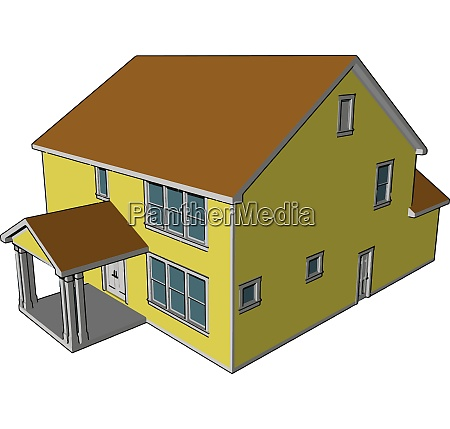 a primary residence farmhouse vector or