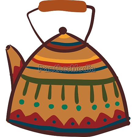 clipart of multi colored teapot vector