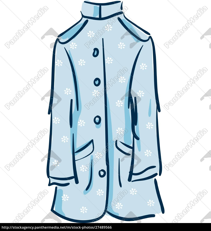 floral, coat, vector, or, color, illustration - 27489566