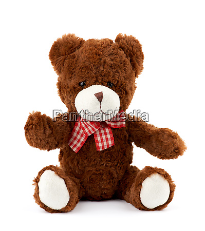 teddy bear with a red bow
