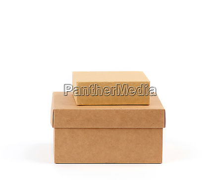 two brown cardboard boxes on a