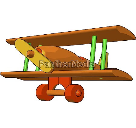 a wooden toy plane vector or