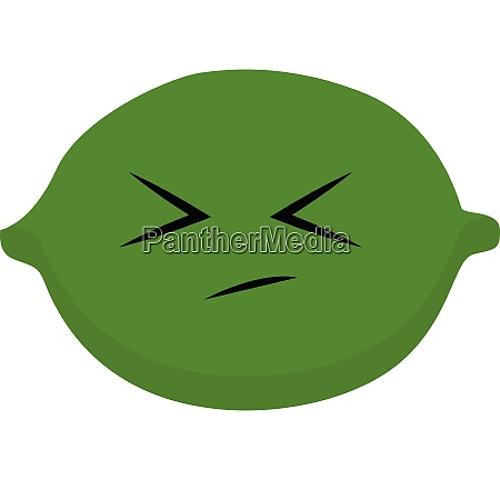 emoji sad green lime vector or