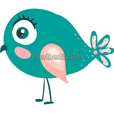 a beautiful blue bird vector or
