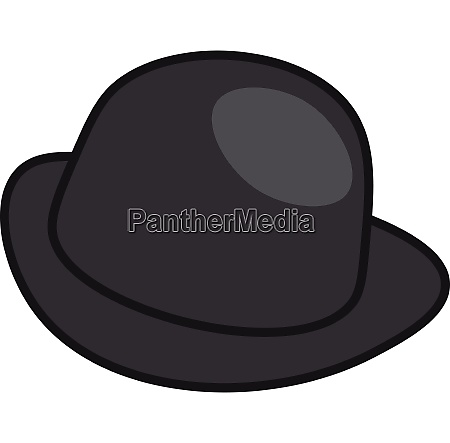 a black bowlers hat vector or