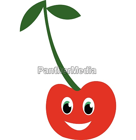 a red cherry fruit vector or