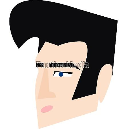 elvis presley hair style vector or