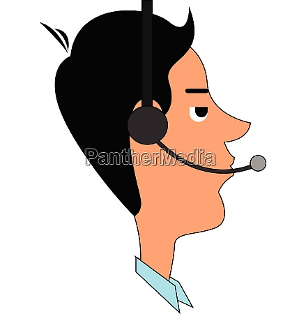 phone operator vector or color illustration