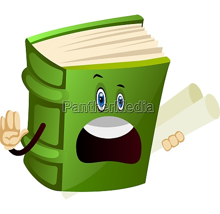 green book with plans illustration vector