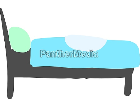 tidy bed illustration vector on white