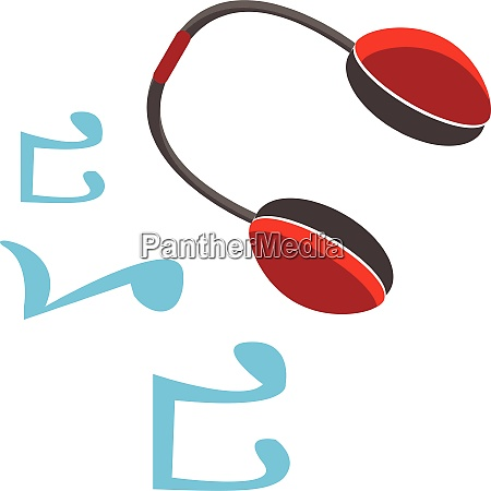 a wireless headphone set vector or
