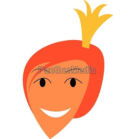 portrait of happy princess vector or