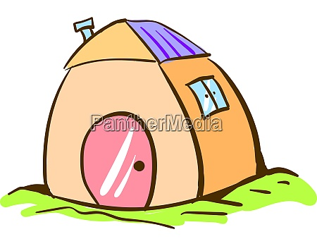 beauty house drawing illustration vector on