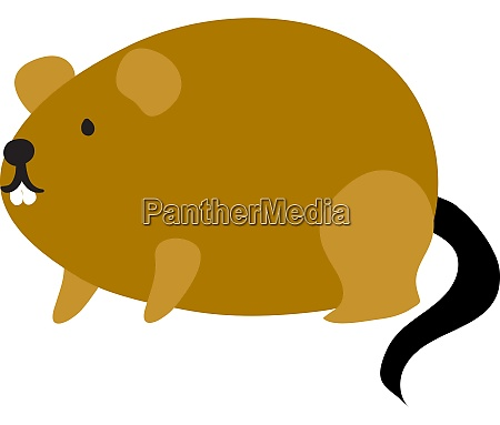 fat brown mouse illustration vector on