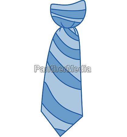 blue check formal neck tie vector