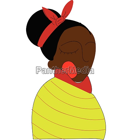 black skinned woman in traditional clothes