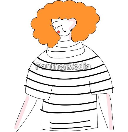 abstract illustration of a girl with