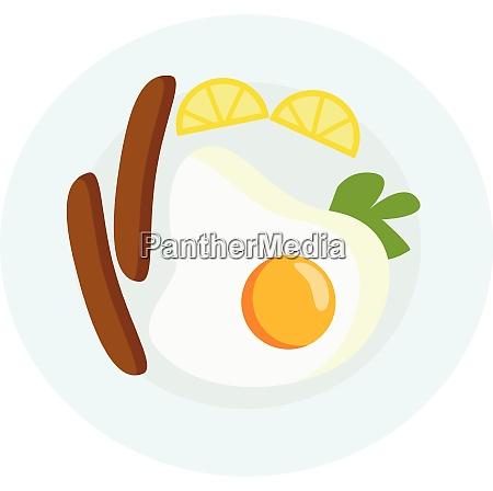 a breakfast platter vector or color