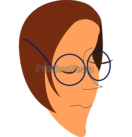 girl with blue eyeglasses vector or