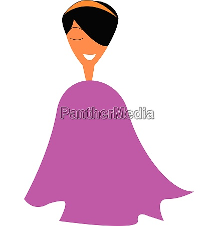 young girl in pink poncho vector