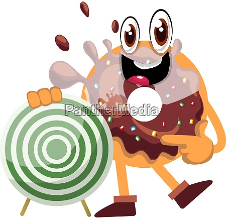 donut with target illustration vector on