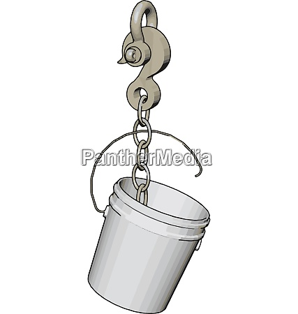 white plastic bucket on a big