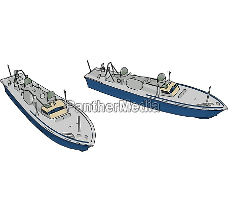 3d illustration of two blue army